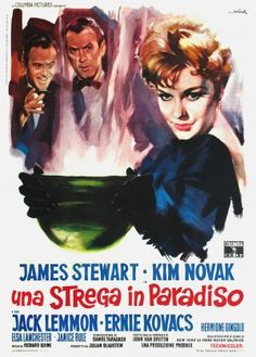 """Bell Book and Candle ...one of my fave films....and what a poster - """" A witch in Paradise"""" ? Who did that translation???"""