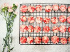 Meringue Kisses Recipe. Super simple recipe. Baking, meringue, homemade, simple bakes, spring bakes, colourful bakes, eton mess,