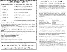 LDS Handout for Primary Lesson 19, Manual 5 - The Saints Are Taught to Recognize Good and Evil