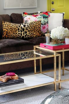 @Kim Stephen and @Kelly Blakemore We are going for the grown up version?? LOVE THE ECLECTIC MIX OF COLOURS & PRINTS! - THE LEOPARD, HOT PINK, CHARTREUSE DOOR & BLACK! - DIVINE! #️⃣