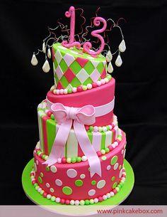 Topsy Turvy 13th Birthday Cake