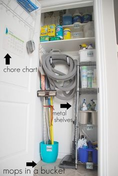 cleaning closet organization!