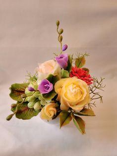 Cold Porcelain by Natasha Waldron Polymer Clay Flowers, Hair Barrettes, Cold Porcelain, Floral Wreath, Wreaths, Artist, Jelly Beans, Floral Arrangements, Flowers
