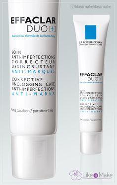 La Roche-Posay apresenta Effaclar Duo [+] - O produto Effaclar Duo [+] é ótimo para acabar com as marcas das acnes devido ao Procerad, que é um ativo que tem essa função. O ativo Procerad atua limitando o aparecimento das marcas da acne. A fórmula possui: Nicotinamida, que possui ação...
