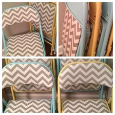 Painted folding chairs~PERFECT for vendor events with Origami Owl! How cool! www.sharethestory.origamiowl.com