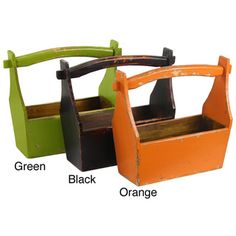 Orange French Style Fruit Basket...To hold cleaning supplies in the updated laundry space!