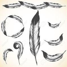25331487-symbole-de-natif-am-ricain-a-r-e-oiseau-plume-Banque-d'images.jpg (1300×1300)