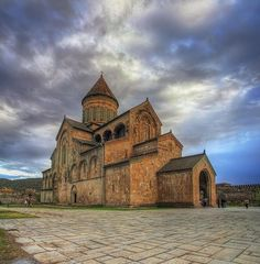 Svetitskhoveli Cathedral | HOME SWEET WORLD  |  Listed as an UNESCO World Heritage Site along with other historical monuments of Mtskheta, Georgia