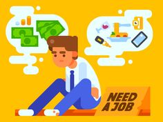 Dribbble - Unemployed by July Pluto