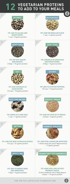 Vegetarian proteins to add to meals