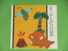 Einladungskarten - Einladungskarte Kindergeburtstag Dinosaurier - ein Designerstück von Wonderful-Paper-Art bei DaWanda