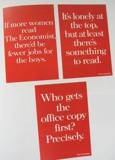 Economist ads -- famously good copy.