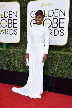 Issa Rae's Golden Globes 2017 Dress | Pret-a-Reporter