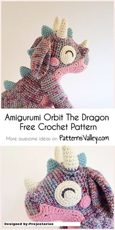 Amigurumi Orbit The Dragon Free Crochet Pattern