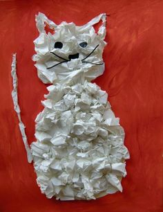 Crafts For Kids, Early Education, Manualidades, Kitty, Cat Breeds, Cats, Creative, Crafts For Children, Kids Arts And Crafts
