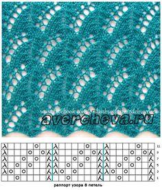 Lace pattern // muestra de punto calados