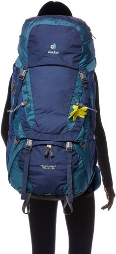 Deuter Damen Rucksack Aircontact Slim Line, Midnight-Denim, 86 x 32 x 26 cm, 80 Liter, 332061633540: Amazon.de: Sport & Freizeit