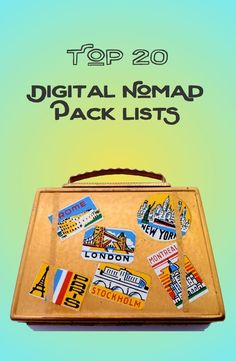 A Top 20 List of Digital Nomad Pack Lists - covers solo, couple, and family travel. #digitalnomadfamily