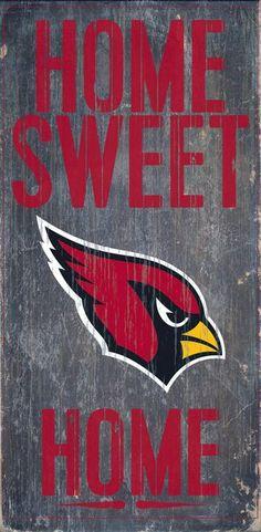 "Arizona Cardinals Wood Sign - Home Sweet Home 6""""x12"""" Z157-7846004829"