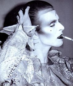 David Bowie from 1980 with wonderful make-up by Richard Sharah