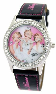 Marilyn Monroe Women's Leather Band Watch Model #MM-W106A Marilyn Monroe. Save 31 Off!. $19.99. Marilyn Monroe Logo. Stainless Steel Case with Genuine Leather Band. Precision Crafted Japan Quartz Movement. Mineral Crystal