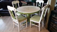 Shabby Chic table and chairs.