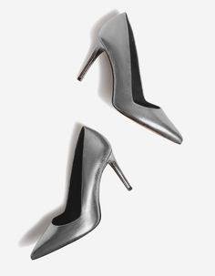 Metallic high heel court shoes - JUST IN | Stradivarius Hungary