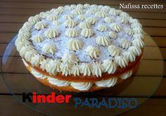 ~~Bonjour à tous Je vous propose la recette d'un gâteau onctueux, léger et surtout ultra gourmand : le Kinder Paradiso méconnu en France. J'ai trouvée cette recette ICI et en lisant les ingrédients et la préparation je n'ai pas pu m'empêcher de la réaliser....
