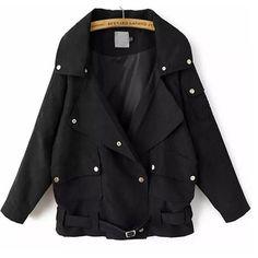 39,90EUR Jacke im Blouson Style schwarz mit Gürtel