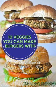 10 Veggies You Can Make Burgers With http://onegr.pl/1nplgYA #summer #vegan #recipe