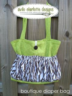 Sewing pattern for cute bag (meant to be a diaper bag but could use for other things.)  $8 for the pdf