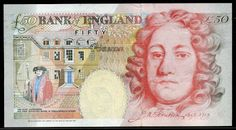 Old design note features Sir John Houblon, Governor of the Bank of England English Coins, British Values, He Is Lord, Cold Hard Cash, Money Notes, Bank Of England, French History, World Coins, History Books