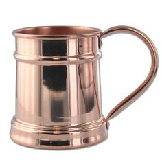 A single 20oz Moscow Mule Stein, 100% solid copper, and handcrafted to perfection