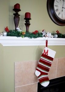 Have yourself a hip little Christmas with this Sport Striped Crochet Stocking pattern. Somehow, this crochet stocking pattern manages to be retro and modern at the same time. Crochet Christmas Stocking Pattern, Crochet Stocking, Crochet Christmas Ornaments, Holiday Crochet, Christmas Knitting, Crochet Gifts, Christmas Stockings, Christmas Crafts, Crochet Snowflakes