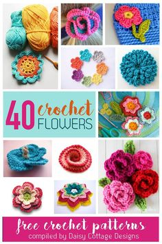 40 Free Flower Crochet Patterns Vertical