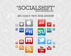 """SocialShift"" Icon Set: 246 Free Social Networking Icons"