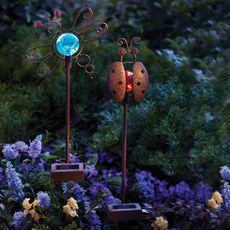 Solar Critters Ladybug & Dragonfly Color-Changing LED Garden Stakes - Bed Bath & Beyond