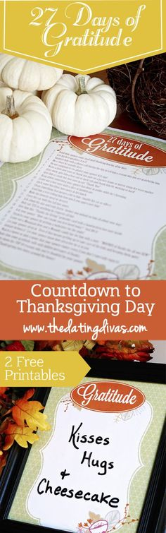 This is a great countdown for Thanksgiving!!  http://www.thedatingdivas.com/27-days-of-gratitude-challenge/?inf_contact_key=2f2c392fcd9103962590df337ce255babf58565bea4ff746fc08f2d3ab8ee316