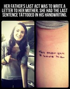 The most meaningful tattoo ever…