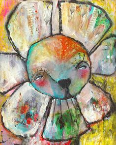 Whimsical Owls and Other Mixed Media Art From the Heart by Juliette Crane: a NEW mixed media painting: start to finish