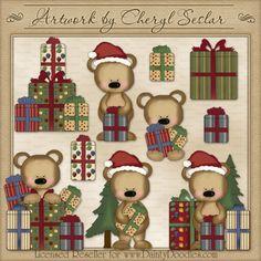 Bearing Gifts 1 - Cheryl Seslar Country Clip Art