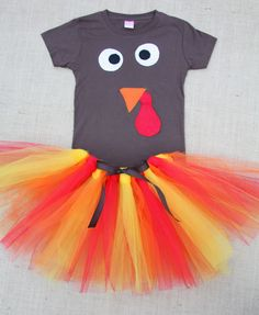 Magnolia Mamas : Tutu Turkey Costume {No-Sew Tutu Tutorial}