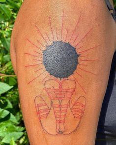Tattoos For Black Skin, Dark Skin Tattoo, Dope Tattoos For Women, Black Girls With Tattoos, Red Ink Tattoos, Girly Tattoos, Badass Tattoos, Sleeve Tattoos For Women, Pretty Tattoos