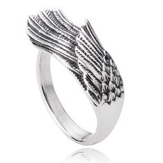Vintage Angel Wing Ring in Sterling Silver For Women/Men