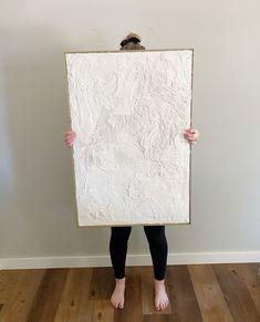 Textured Canvas Art, Diy Canvas Art, Diy Tableau, Diy Plaster, Homemade Art, Texture Art, Abstract Wall Art, Diy Painting, Diy Art