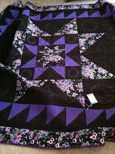 Purple quilts, Quilt and Black white on Pinterest