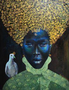 """The Black Queen"" (2010) Artist: Tamara Natalie Madden"