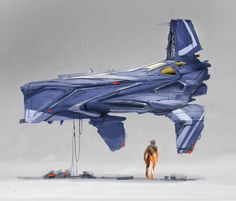 Spaceship concept art by our super good friend Colie Wertz.  Colie has done some modeling for the new STAR WARS: Rogue One film. Congrats Co...