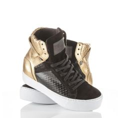 Tenis Punch Gear Dark Gold - Fashion Fitness Shoes Sneakers  @ Labellamafia - Labellamafia