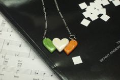Irish Hearts necklace by bugandboodesigns on Etsy, $12.00